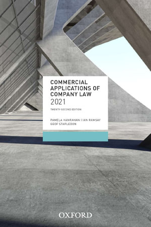 Cover of Commercial Applications of Company Law 2020