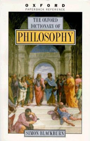 Cover of The Oxford dictionary of philosophy