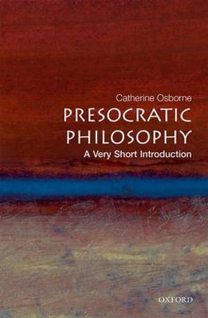 Cover of Presocratic Philosophy: A Very Short Introduction