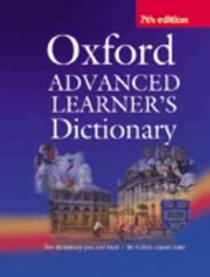 Cover of Oxford Advanced Learner's Dictionary of Current English. International