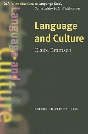 Cover of Language And Culture