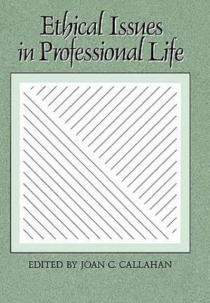 Cover of Ethical Issues in Professional Life