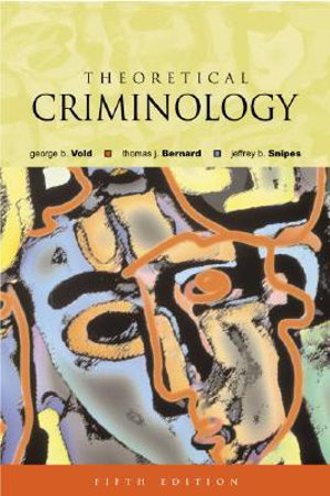 Cover of Theoretical Criminology