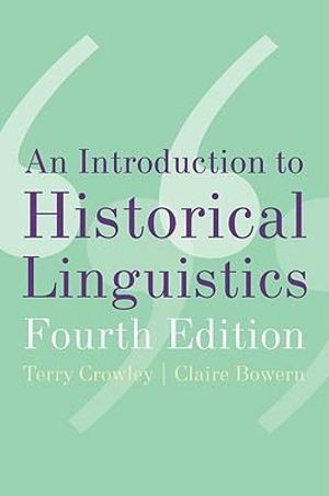 Cover of An Introduction to Historical Linguistics