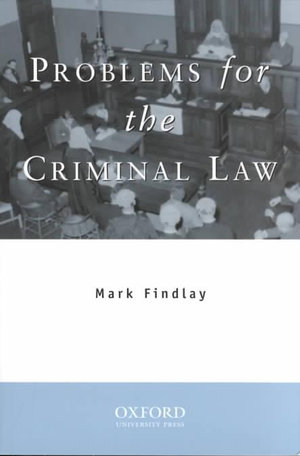 Cover of Problems for the Criminal Law