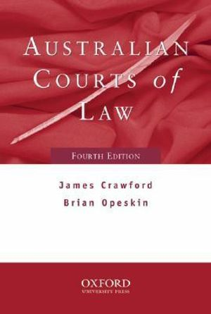 Cover of Australian Courts of Law