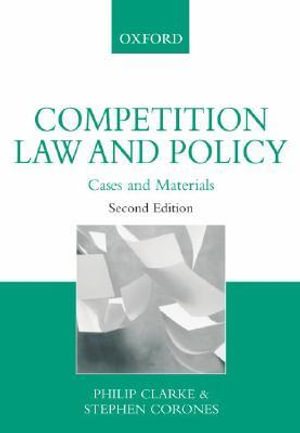 Cover of Competition Law and Policy