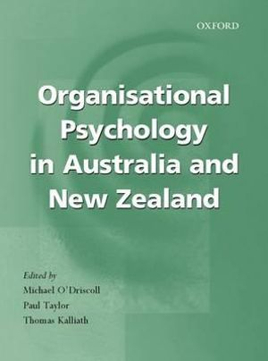 Cover of Organisational Psychology in Australia and New Zealand
