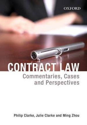Cover of Contract Law - Commentaries, Cases and Perspectives