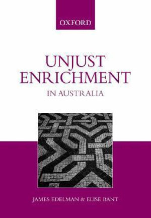 Cover of Unjust Enrichment in Australia