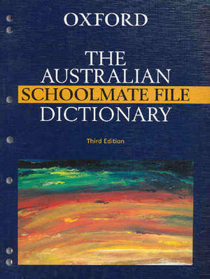 Cover of The Australian Schoolmate File Dictionary