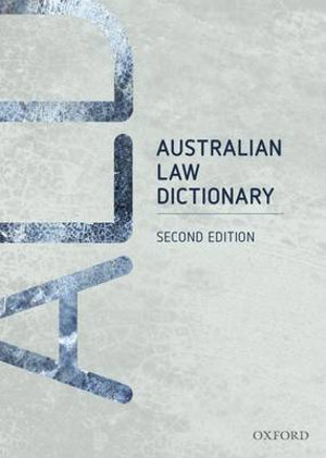 Cover of Australian Law Dictionary