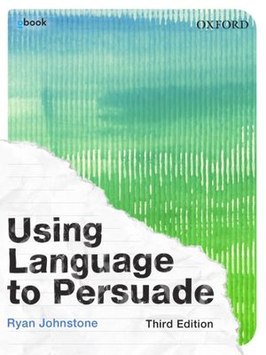 Cover of Using Language to Persuade Student Book + obook