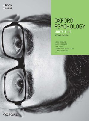 Cover of Oxford VCE Psychology Units 3 and 4 Student Book + Obook + Assess