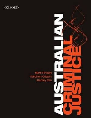 Cover of Australian Criminal Justice