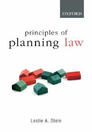 Cover of Principles of Planning Law