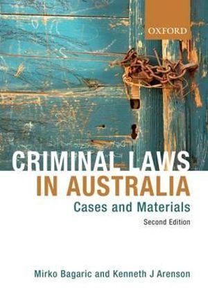Cover of criminal laws in Australia