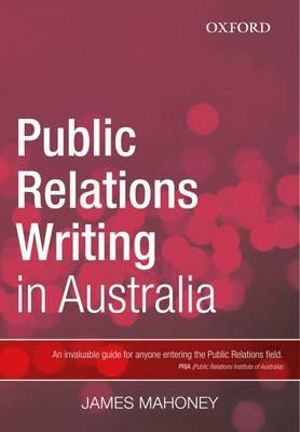 Cover of Public Relations Writing in Australia