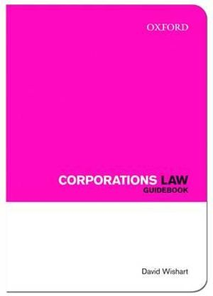 Cover of Corporations Law Guidebook