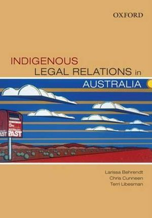 Cover of Indigenous Legal Relations In Australia