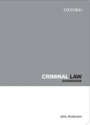Cover of Criminal Law Guidebook