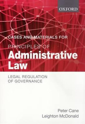Cover of Cases and Materials for Principles of Administrative Law