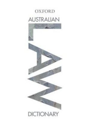 Cover of Australian Law Dictionary Print and Online