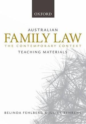 Cover of Australian Family Law Teaching Materials