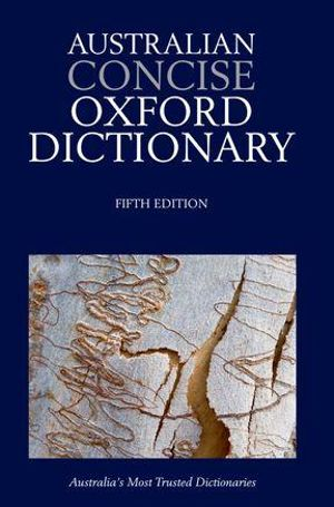 Cover of Australian Concise Oxford Dictionary