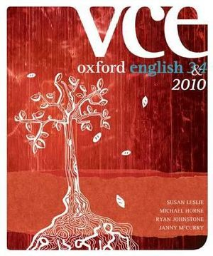 Cover of Oxford VCE English 3 and 4 2010