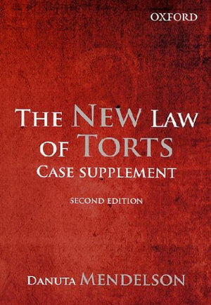Cover of The New Law of Torts  Case Supplements