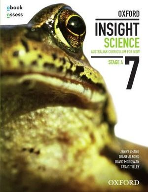 Cover of Oxford Insight Science 7 Student Book + Obook + Assess