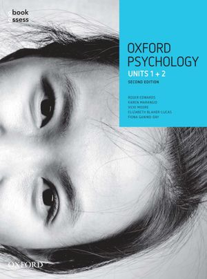 Cover of Oxford VCE Psychology Units 1and 2 Student Book + Obook