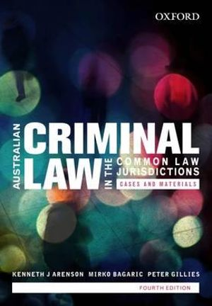 Cover of Australian Criminal Law in the Common Law Jurisdictions