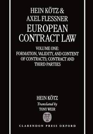 Cover of European Contract Law