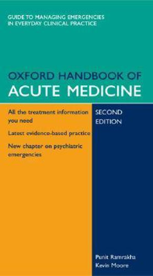 Cover of Oxford Handbook of Acute Medicine