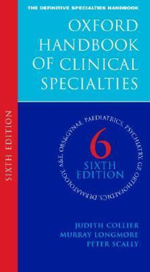Cover of Oxford Handbook of Clinical Specialties