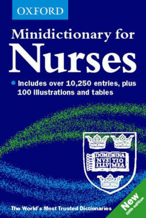 Cover of Minidictionary for Nurses