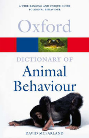 Cover of A Dictionary of Animal Behaviour