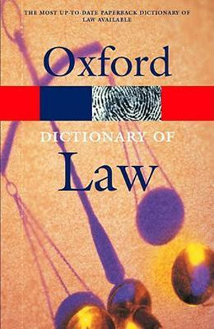 Cover of A Dictionary Of Law