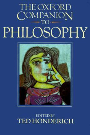 Cover of The Oxford Companion to Philosophy