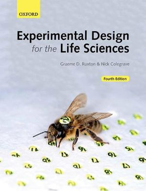 Cover of Experimental Design for the Life Sciences