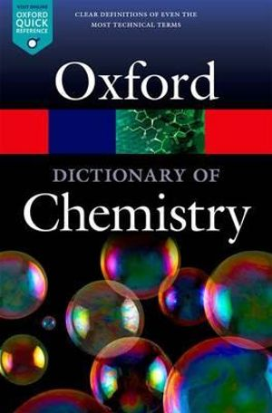Cover of A Dictionary of Chemistry