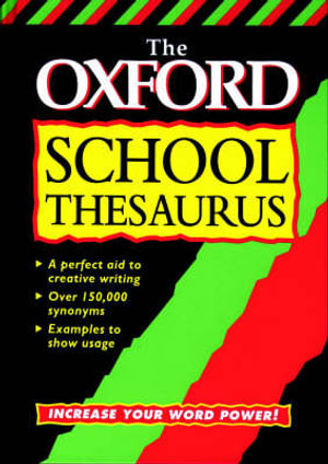 Cover of The Oxford School Thesaurus