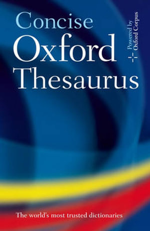 Cover of Concise Oxford Thesaurus