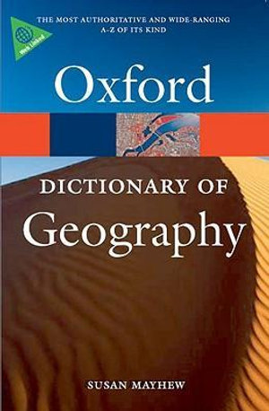 Cover of A Dictionary of Geography