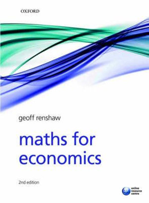 Cover of Maths for Economics
