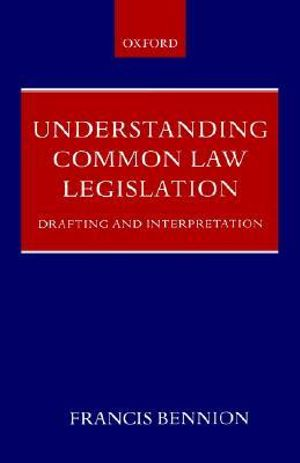 Cover of Understanding Common Law Legislation