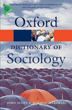Cover of Dictionary Of Sociology