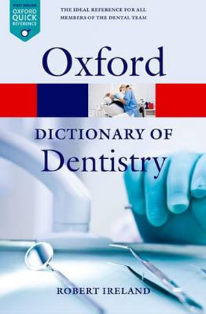 Cover of A Dictionary of Dentistry